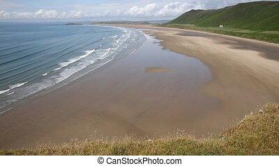 Rhossili beach The Gower peninsula