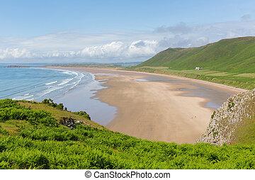 Rhossili beach The Gower Wales
