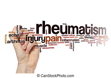 rhumatisme, mot, nuage