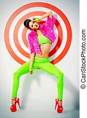 rhythm - Fashion shot of a stunning female model posing in...