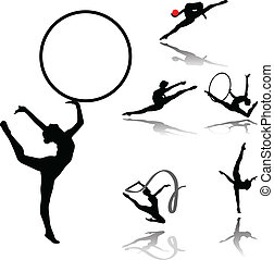 rhythmic gymnastic collection vector