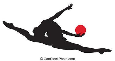 Rhythmic gymnastic - Abstract vector illustration of...