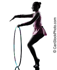 Rhythmic Gymnastics little girl child