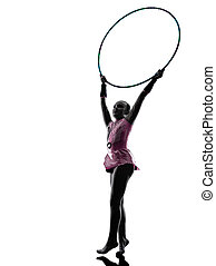 Rhythmic Gymnastics little girl child silhouette