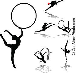 rhythmisch, gymnastisch, sammlung