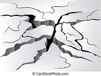 Vektor clipart von risse boden satz absturz for Boden clipart