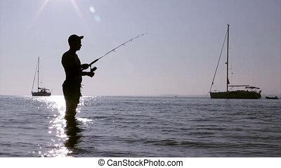 Ria Formosa Fisherman Silhouette C - Sunset fisherman...