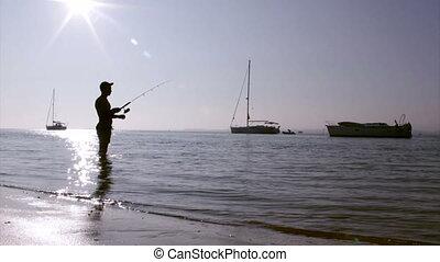 Ria Formosa Fisherman Silhouette - Sunset fisherman ...