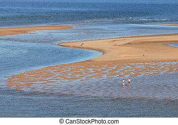 Ria Formosa - A couple enjoying the day on the sea (Ria...