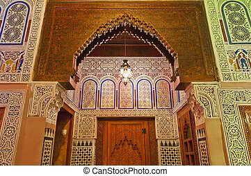 Riad palace at Meknes, Morocco