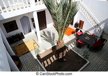 Detail of Riad in Essaouira - morocco