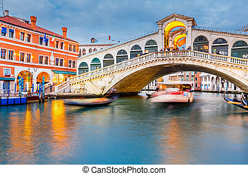 Rialto Bridge at dusk