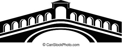 Rialto bridge icon, simple black style - Rialto bridge icon....