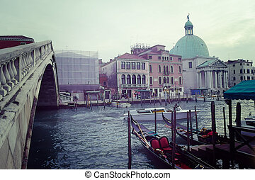 Rialto bridge in Venice Canal Grande