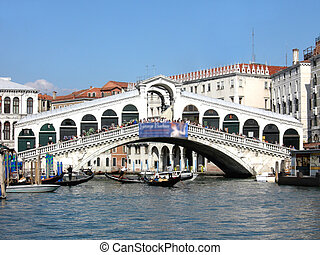Rialto bridge in Venice (Venezia) in Italy