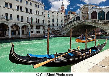 rialto bridzs, alatt, velence, olaszország