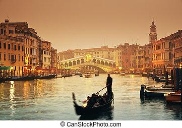 rialto bridzs, velence, -, olaszország
