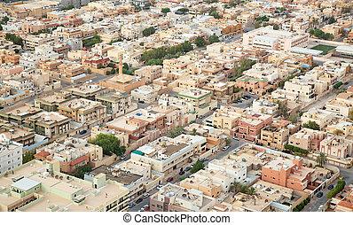Riaydh - Aerial view of Riyadh downtown. Riyadh, Saudi...