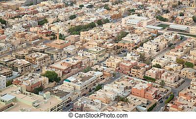 Riaydh - RIYADH - AUGUST 21: Aerial view of Riyadh downtown...