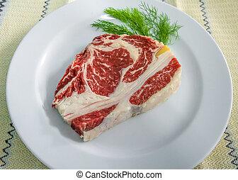 Rib eye beef