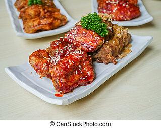 Rib pork chop fried