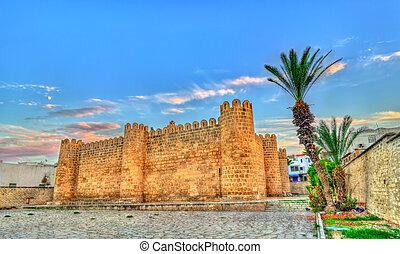 Ribat, a medieval citadel in Sousse, Tunisia. UNESCO...
