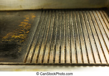 ribbed cast iron surface grill