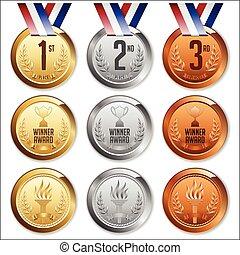 ribbon., メダル