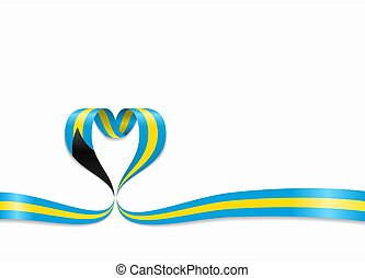 ribbon., 心の形をしている, illustration., バハマの旗, ベクトル