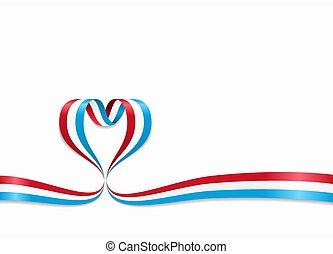 ribbon., 心の形をしている, illustration., ルクセンブルクは印を付ける, ベクトル