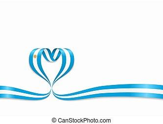 ribbon., 心の形をしている, illustration., argentinean フラグ, ベクトル