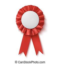 ribbon., 生地, 賞, 現実的, ブランク, 赤
