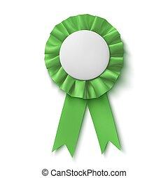 ribbon., 生地, 賞, 現実的, 緑, ブランク