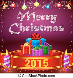 Ribbon 2015 and Merry Christmas gifts