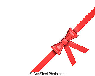 Ribbon - 3D render of a ribbon isolated on white background