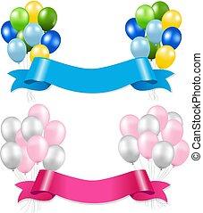 Ribbon And Balloons