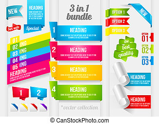 Ribbon and banner collection - Ribbon, Corner and Banner...