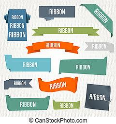Ribbon and banner set