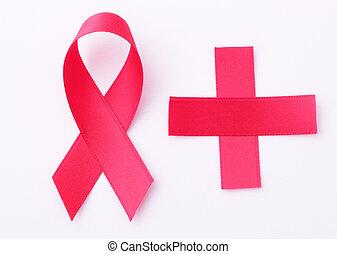 ribbon and cross