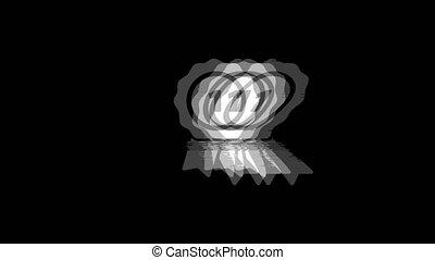 Ribbon Award icon Vintage Twitched Bad Signal Animation.