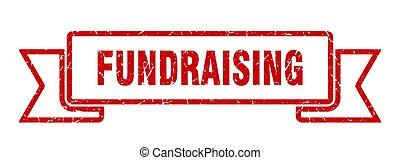 ribbon., banda, cégtábla., fundraising, grunge, transzparens