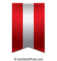 Ribbon banner - austrian flag