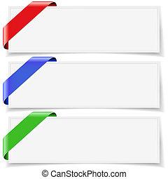 Ribbon Banner Background Set