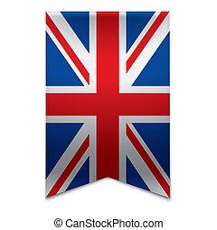 Ribbon banner - british flag