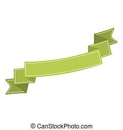 ribbon banner green neon design icon