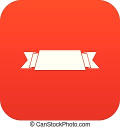 Ribbon banner icon digital red