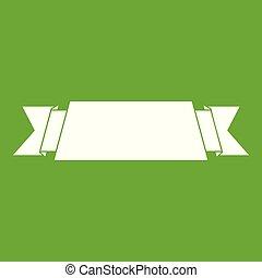 Ribbon banner icon green