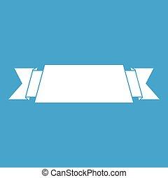 Ribbon banner icon white