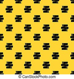 Ribbon banner pattern vector