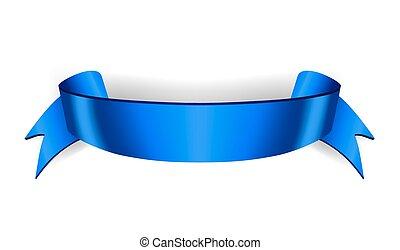 Ribbon banner Satin blank - Blue ribbon banner. Satin blank....